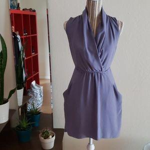 Aritzia Wilfred tie waist mini dress